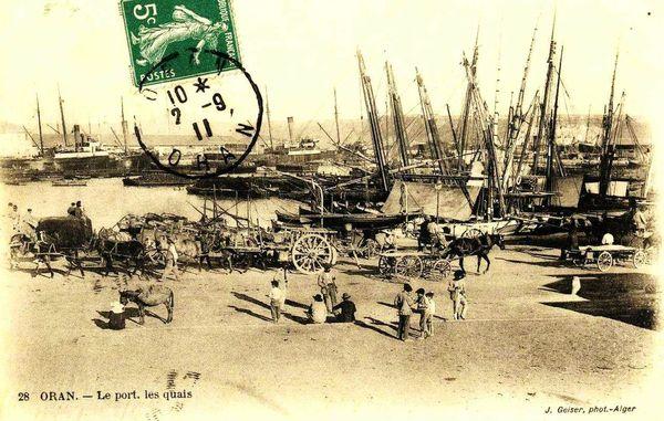 Oran- 114- travail sur les quais