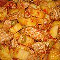 Saute de porc aux tomates et olives vertes