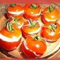 Tomates roquefort-noix pour l'apero ...