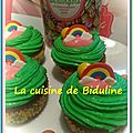 Mes cupcakes colorés (topping saveur chewing-gum) :)