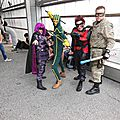 Kick-Ass, Hit Girl, Red Mist et Col Stars&Stripes