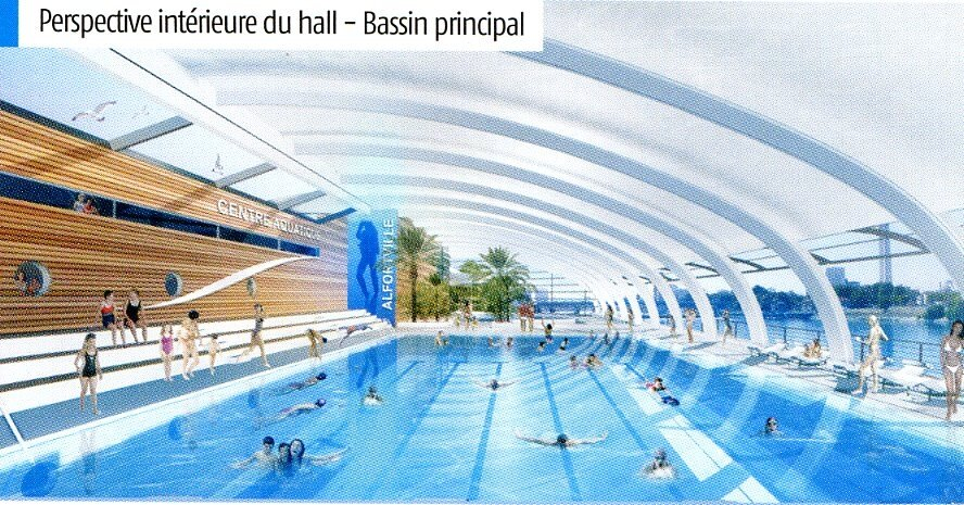 D co piscine municipale dessin boulogne billancourt for Piscine 75019