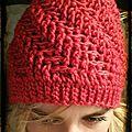 Bonnet texturé en crochet