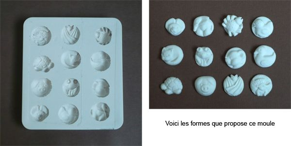 moule en silicone animaux ronds