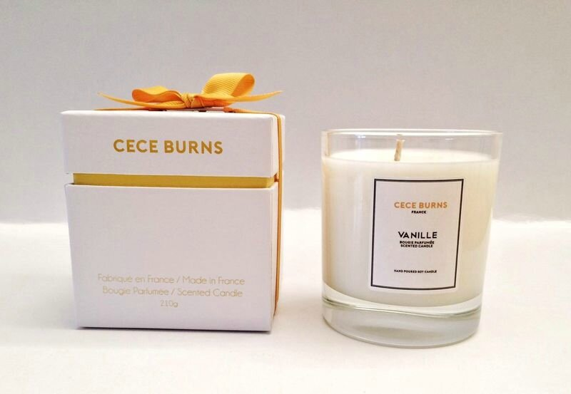 Cece_Burns_ Vanille_ Bougie_ parfumée_patine_production 210g