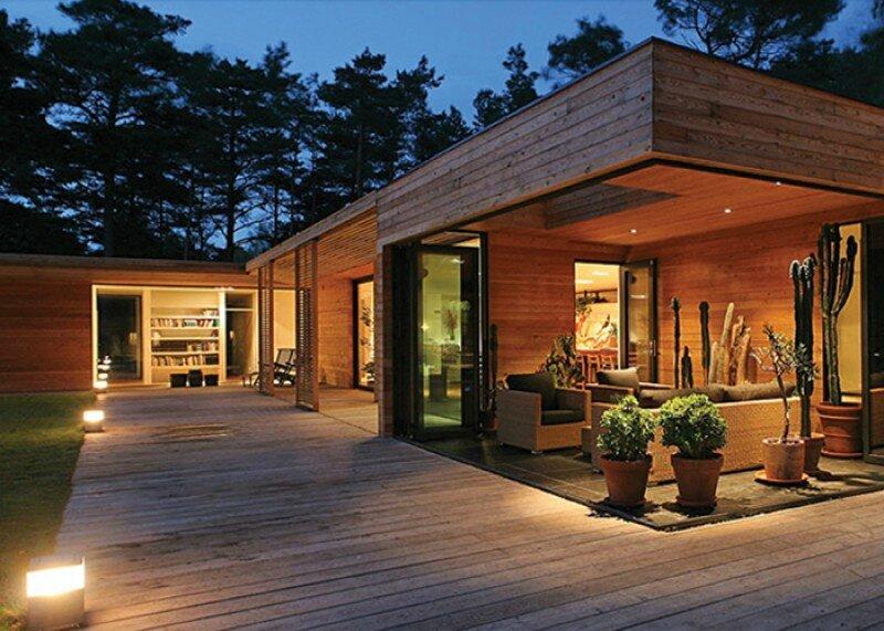 Le bois un mat riau cologique la nature nous fait du bien - Maison en bois plein pied ...