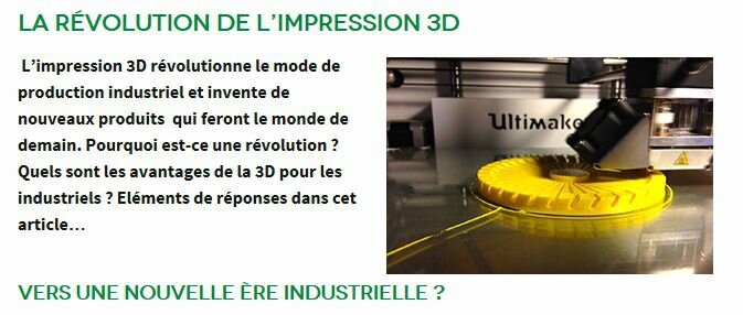fabrication additive impression 3D CTIF expert