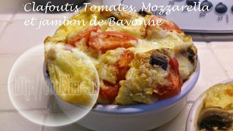 Clafoutis Tomates, Mozzarella, jambon de bayonne 1
