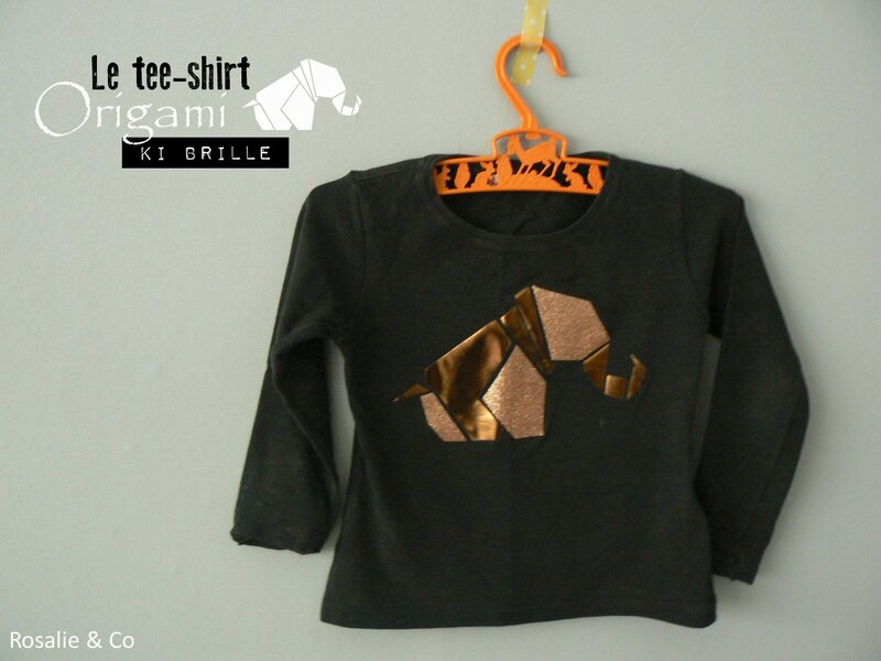 Tee shirt origami_Rosalie and co