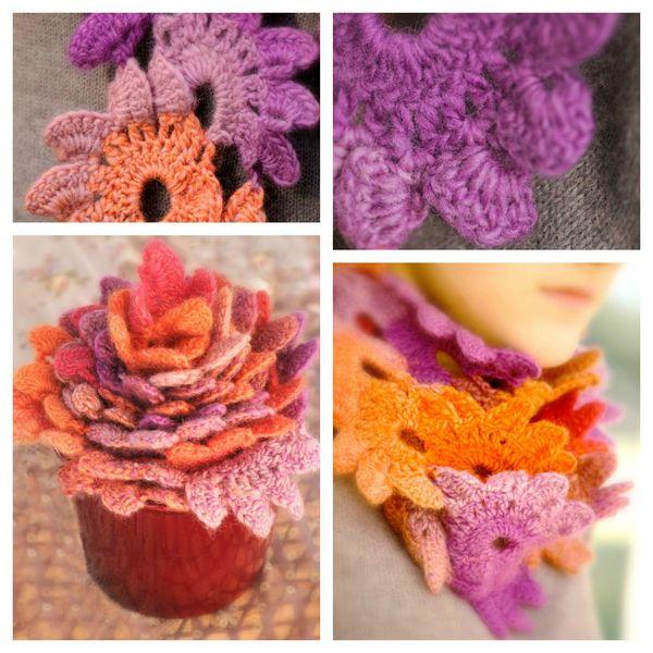 Echarpe fleurs 2