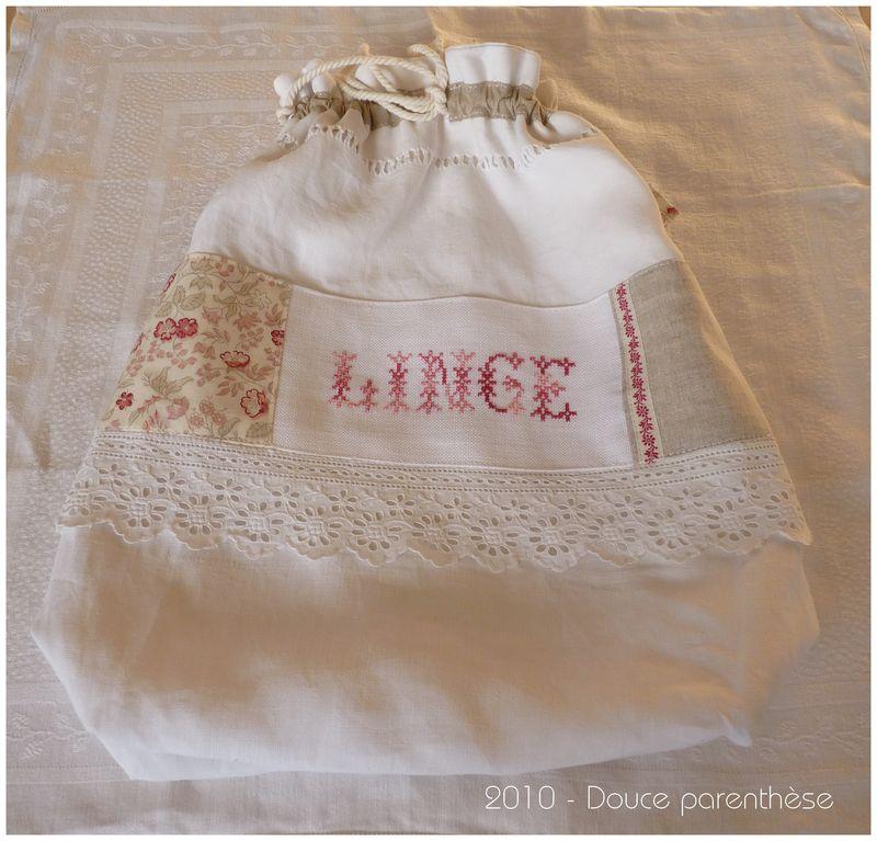 Pochon Linge ancien