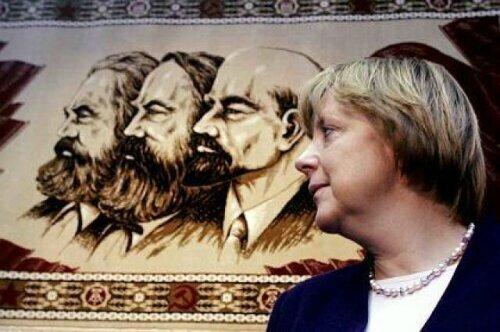 Angela Merkel et les communistes s'emparent de l'Allemagne de l'Ouest