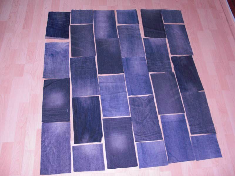 recycler des vieux jeans en tapis de jeux b a ba cr ations. Black Bedroom Furniture Sets. Home Design Ideas