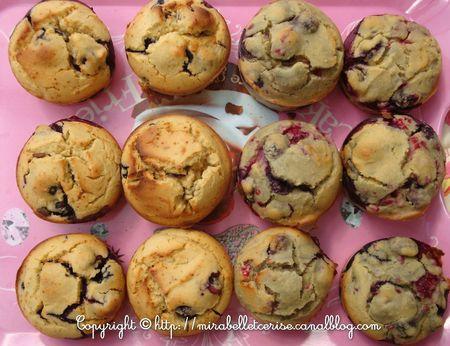 muffins bluets framboises