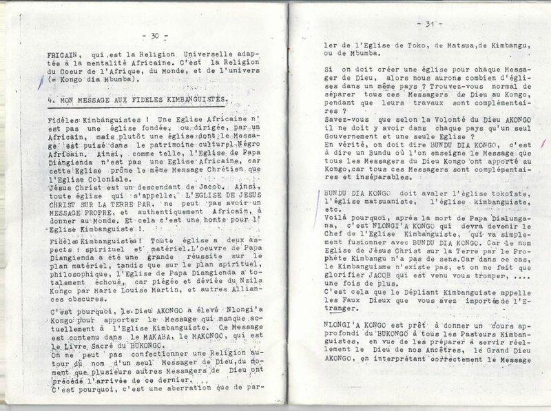 MESSAGE DE PAPA 18