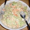 Petite salade allégée concombre /crevettes