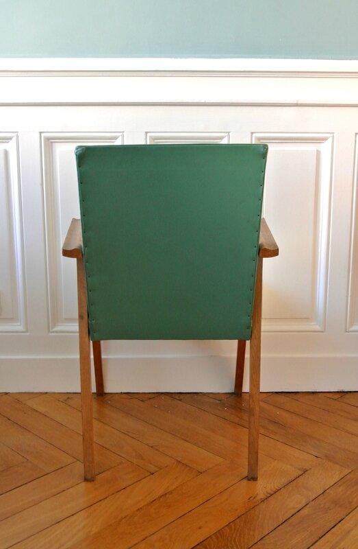 fauteuil années 50 vert (4)
