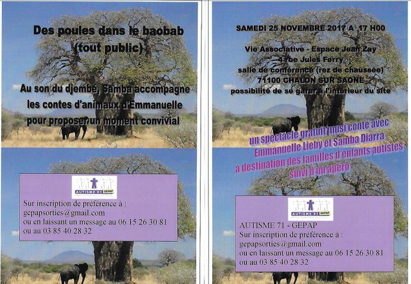 Des poules dans le baobab - Affiche