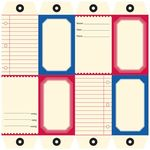 die cut and perforated papers tag sheet