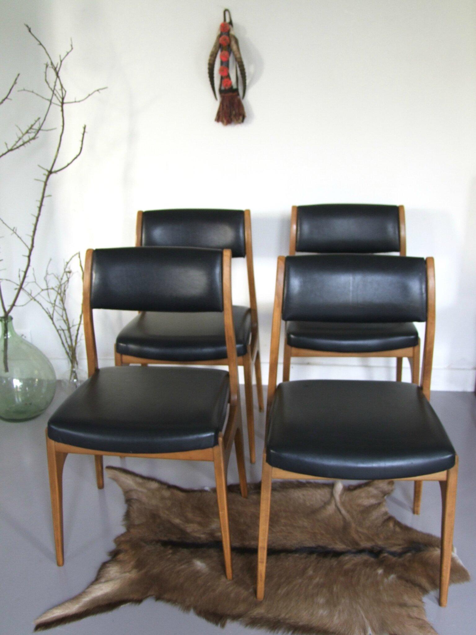Chaises vintage skai l onie meubles vintage pataluna - Chaises scandinaves vintage ...