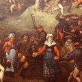 Detail d'une copie d'une peinture sur bois - D