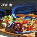 Bento en botes coquillage