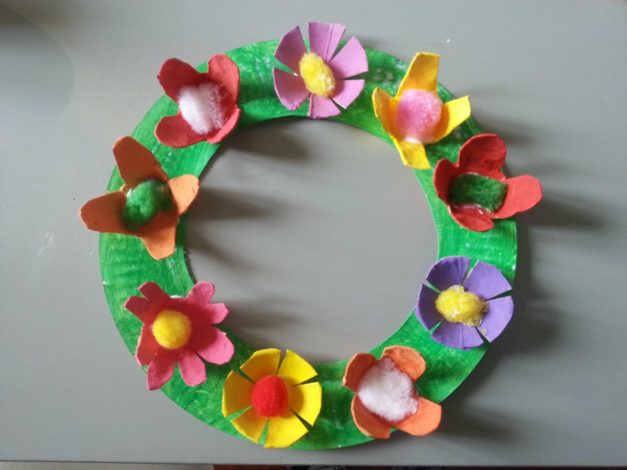 Couronne de fleurs extra ordinaire le blog de lily - Fleurs printemps maternelle ...