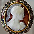Athena wearing the gis. Sardonyx cameo, late 1st century BC 