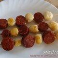 Brochettes de saint-jacques et chorizo