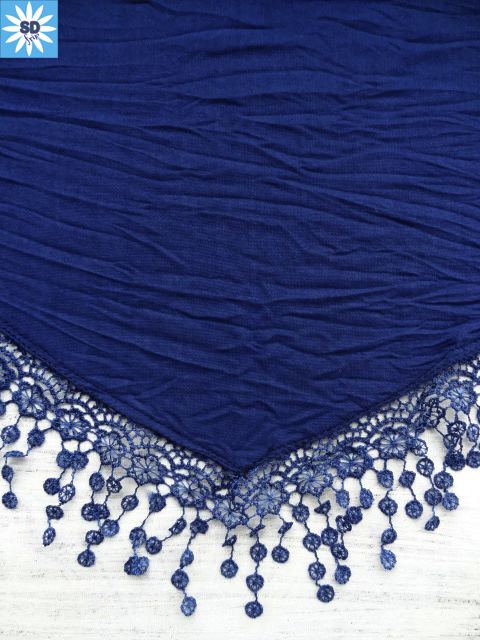 AXE407 SANDAfrip Châle bleu (2)
