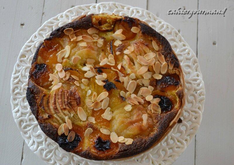 tarte pommes pochées, abricots_1