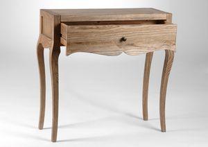 petite console bois naturel