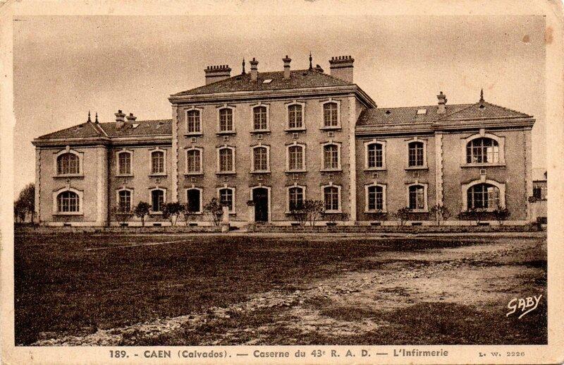 Caen (Calvados), Caserne du 43e RAD, l'infirmerie