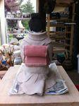 Shinyunu, céramique,sculpture,grès,geïsha,terre,femme,japonaise,argile,engobe,porcelaine,statuette,art,oeuvre (6)