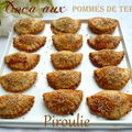 Cocas (petits chaussons) aux pommes de terre et oignons confits