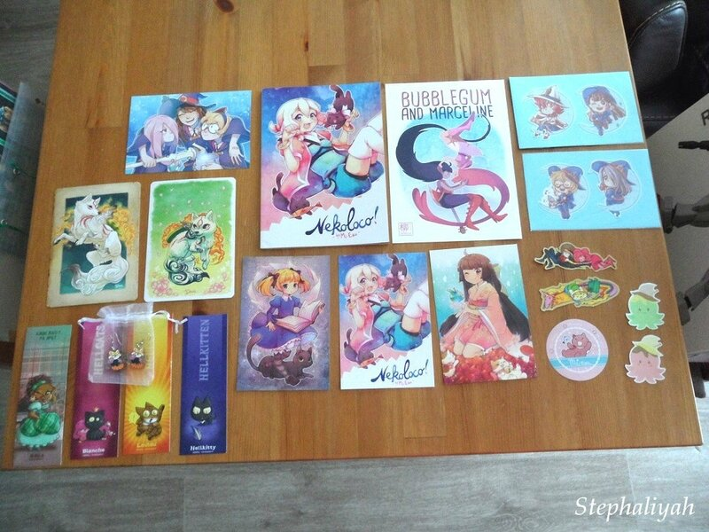Mes achats Japan Expo - 9 juillet 2017