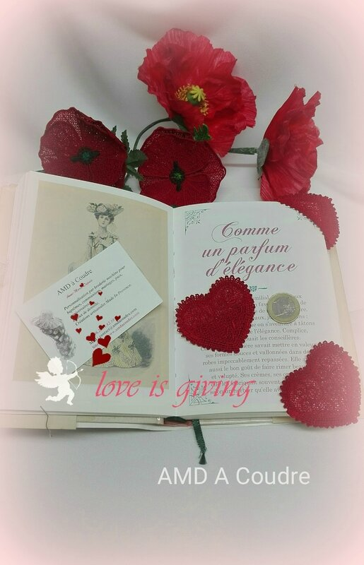 COEUR MARQUE PAGES DENTELLE BRODERIE AMD A COUDRE (3)