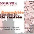 Assemblée générale de socialisme et démocratie