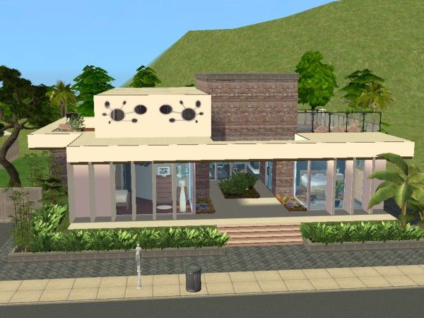 Tucson road maisons deco sims2 for Maison moderne sims 4
