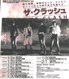 The_Clash___1982_02_01___Tokyo__Japan__Poster