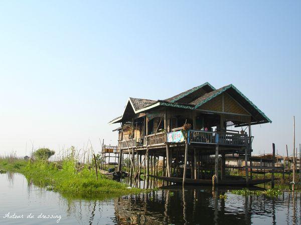 maison lac inle birmanie