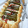 Tarte sale : chvre, bacon et asperges. Recette simplissime et gourmande !
