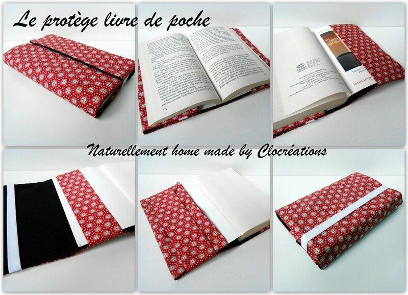 Nouveautés 2015 Clocréations protège livre de poche