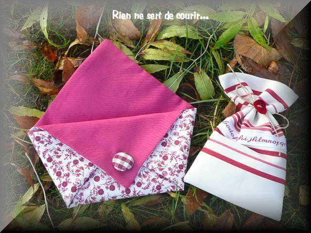 pochon lavande et pochette origami