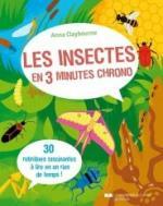Les insectes en 3 minutes chrono couv