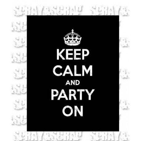 pochoir keep calm