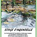 Stage d aquarelle du 3 au 6 juillet - adra salle 19 . programme ci dessous.