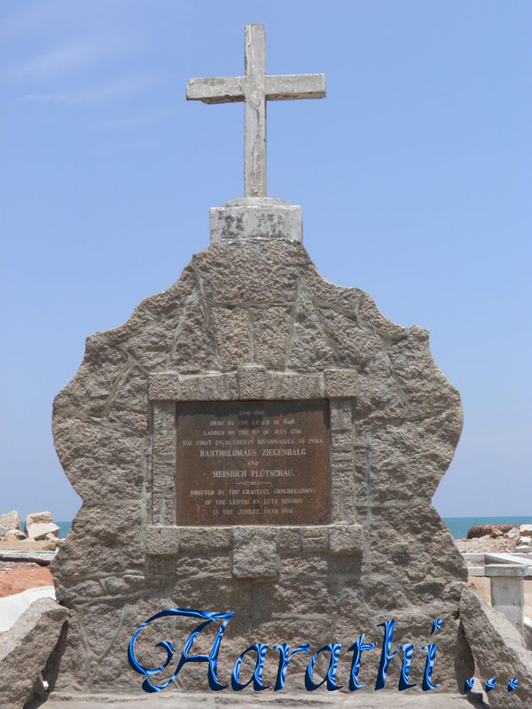 Monumental Cross facing the Sea, Tranquebar