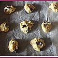 Cookies aux pépites de chocolat et amandes ..