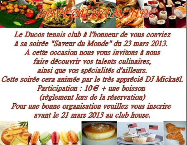 soiree culinaire
